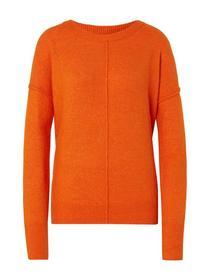 cosy crew neck pullover - 15824/caramel orange