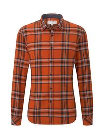 authentic grindle check shirt - 20714/bright red b