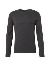 basic rib longsleeve - 14078/Mid Grey Melange Whit