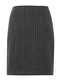 skirt with wool optic - 20430/blue green small che