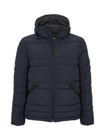 puffer jacket with hood - 10668/Sky Captain Blue