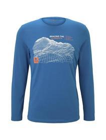 t-shirt long with print - 18800/greek blue