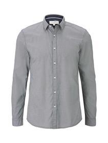 allover printed shirt - 19189/white navy check pri