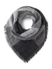 triangle scarf - 20911/black white pattern