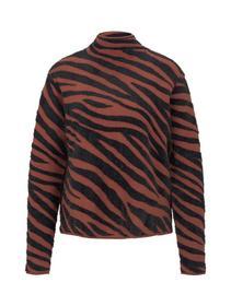 sweater cropped jacquard - 20914/black brown big z