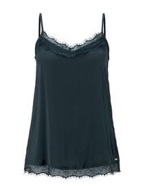 camisole top with lace - 21521/sapphire green