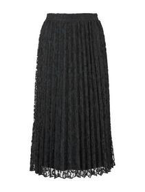pleated lace skirt - 14482/Deep Black
