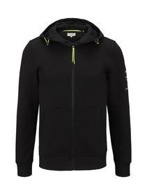 hoodie jacket w. nylon details