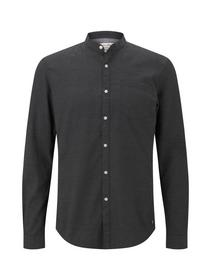 structured melange shirt