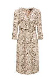 WRAP DRESS - E240/TAUPE
