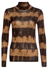 Shirt mit gestreiftem Batikprint