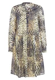 Blusenkleid mit Tropical-Print