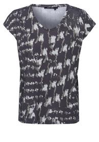 T-Shirt mit abstraktem Camouflageprint
