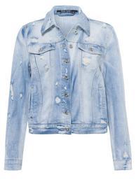 Jeansjacke aus reyceltem Demin mit Destroys