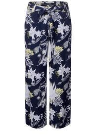 Wide Leg Hose mit Print