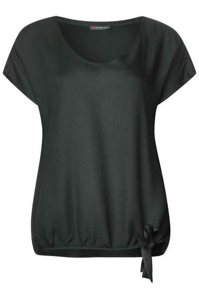Einfarbige Shirtbluse