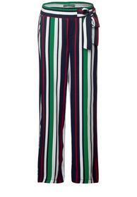 Wide Leg print stripe belt MW