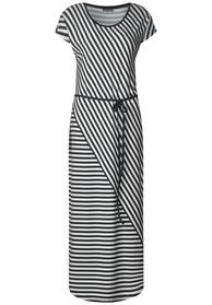 Striped jersey dress_L133, neo grey
