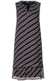Striped chiffon dress_L96