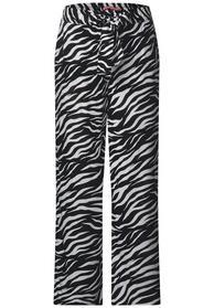 Wide Leg Hose mit Zebraprint
