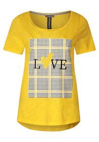 T-Shirt mit Print und Karos