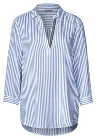 Striped Longblouse w wording t, heaven blue