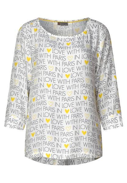 Print-Bluse mit Falten