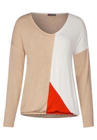 colorblock shirt w.elastic bot