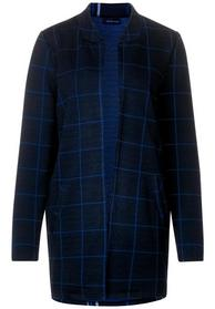 open heavy jersey coat with ch