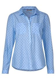 Chambrayblouse w contrasted do - 21888/heaven blue