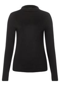 shirt w. gathered turtle neck - 10001/Black