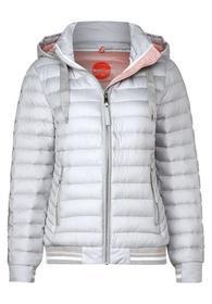 padded mat mix jacket w. hoody