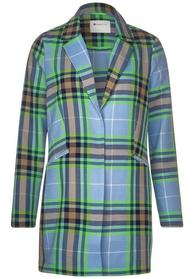 structured, woven check coat - 31888/heaven blue