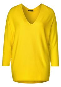 raglan v-neck, fine knit - 12201/shiny yellow