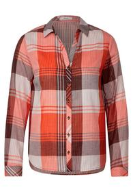 TOS Check Double Face Blouse - 32539/funky orange