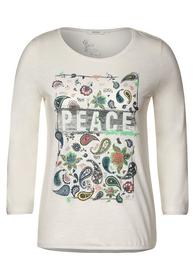 Paisley Peace FP T-Shirt - 32259/light alabaster w