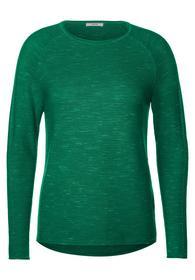 Ripp-Pullover in Melange