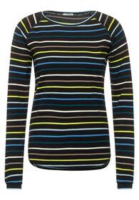 Raglan-Shirt mit Streifen