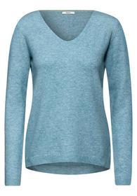 TOS cosy V-Neck Pullover - 12804/multi sky blue me