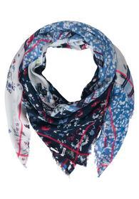 Flower Print Cloth - 30128/deep blue