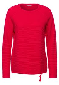 TOS Structure Pullover - 12737/hibiscus red