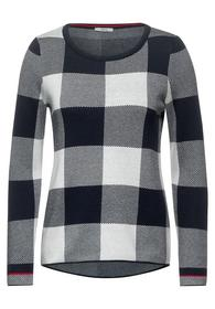 TOS Check Pullover - 20128/deep blue