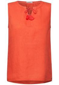 LINEN_ Top solid - 12827/gerbera orange