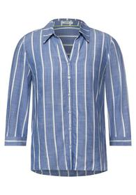 TOS Striped Chambray Blouse
