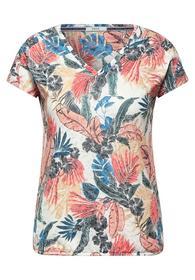 T-Shirt in Burnout Optik