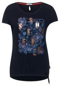 T-Shirt mit Schleifen Detail