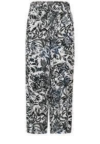 Wide Leg Hose mit Blumen