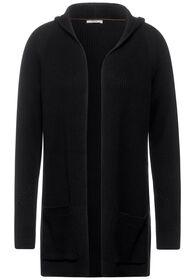 TOS Long Structured Cardigan - 10001/Black