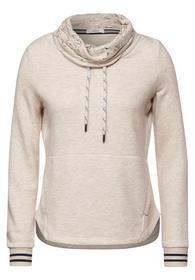 Sweatshirt w. Print inside Col