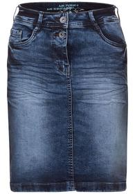 Denim Skirt Mid Blue Authentic